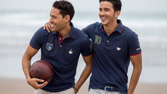 polos sportswear bleu marine, sport chic pour homme