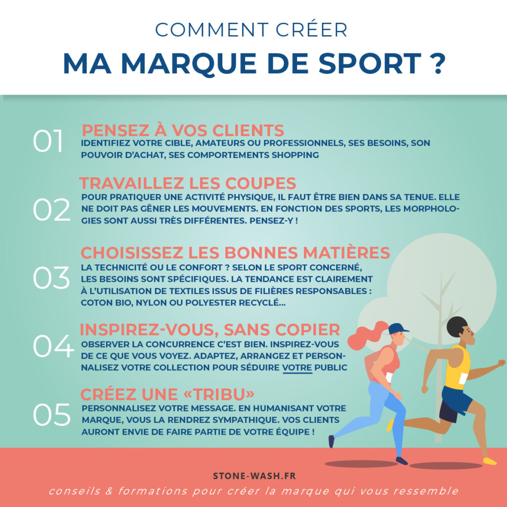 conseils pour lancer une marque de vêtements de sport
